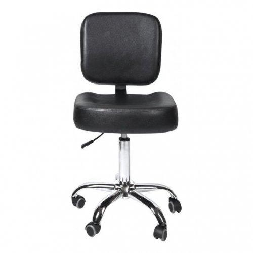 K09 - кресло клиента со спинкой - Черный