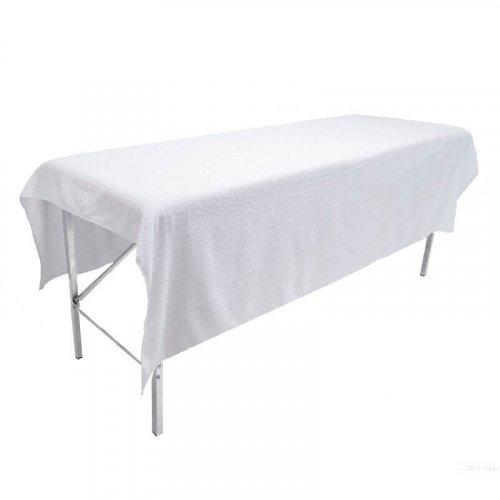 Простынь махровая - Белый, 200х90 см, 1 штука